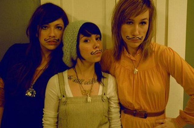 girls with mustaches. Stylish Mustaches For Girls