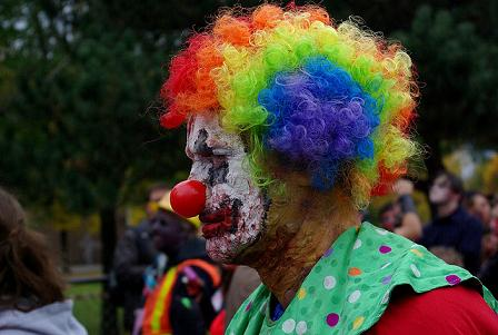 Top 5 Creepiest Costume Play - Zombie Clown Cosplay