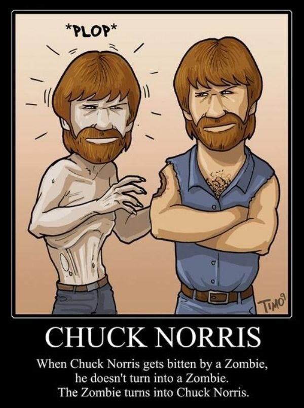 When Chuck Norris Gets Bitten By A Zombie