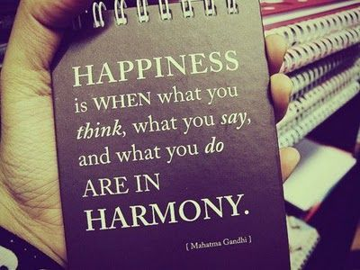 Happiness Is When What You Think, What You Say, And What You Do Are In HARMONY  - Mahatma Gandhi