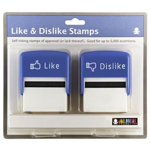 Like And Dislike Stamps - Self-Inking Stamps Of Approval Or Lack Thereof