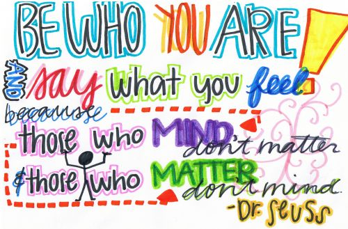 Be Who You Are! And Say What You Feel, Because Those Who Mind Don't Matter And Those Who Matter Don't Mind - Dr Seuss