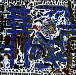 """ARTEINSIEME """"IL PATTINATORE"""" 2007 ACRILICO SU TELA,100X100"""