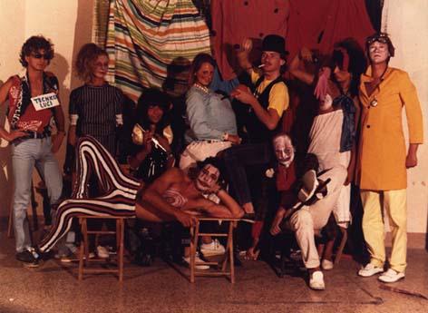 Gli amici del cast. Quinto Piano 1982