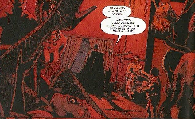 Batman paseando por los bajos fondos