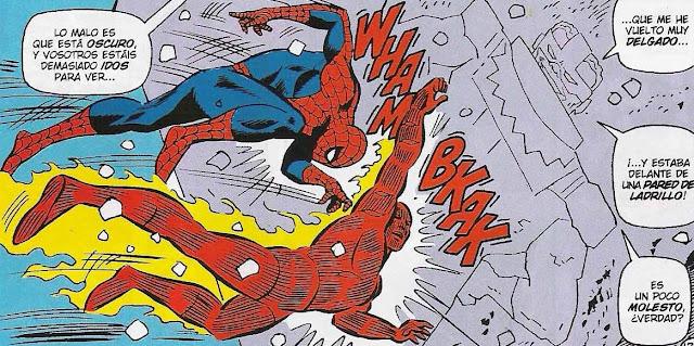 spiderman y antorcha humana a cabezazos contra el enemigo