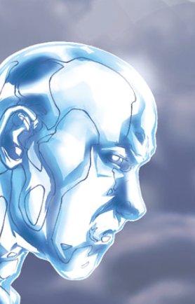 primer plano de un pensativo Hombre de hielo