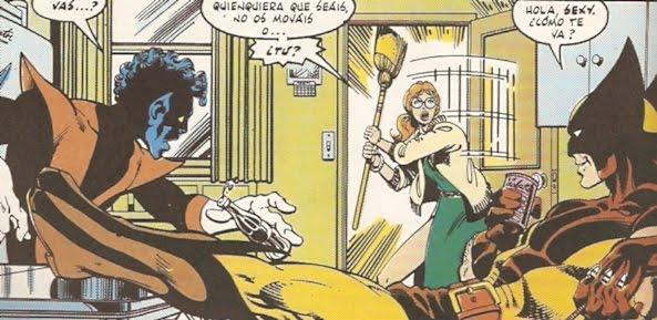 Wolverine & Rondador esperando a una amiga