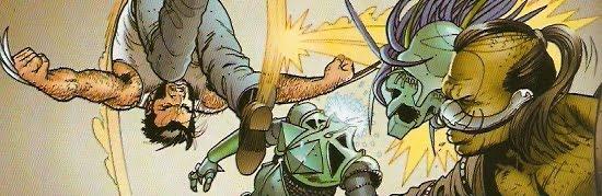 Wolverine haciendo piruetas