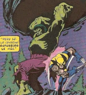 Wolverine poniensose a cubierto de la ira de Hulk