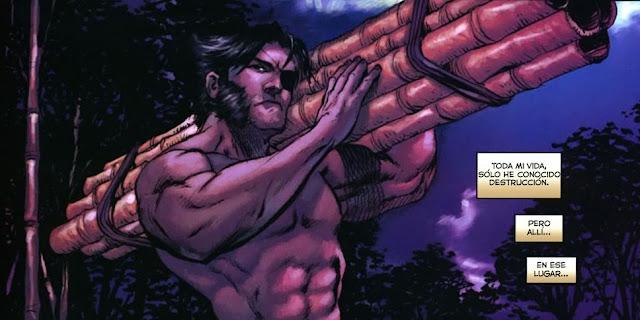 Wolverine construyendo, para variar
