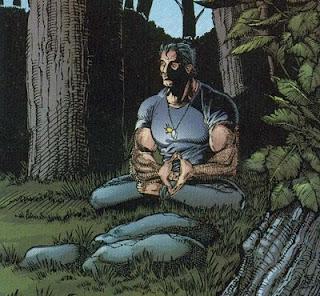 Wolverine meditando