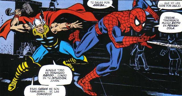 Spiderman & Thor trabajando codo con codo