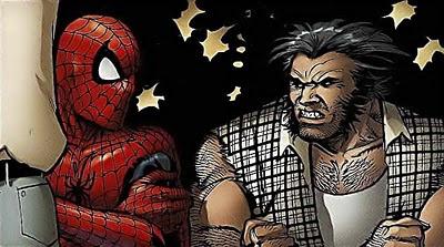 Wolverine a punto de partirle la cara a Spiderman