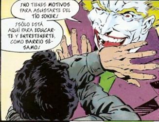 Joker cuidando de los niños