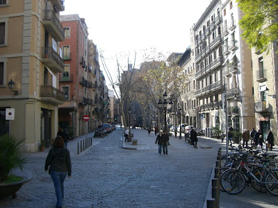 Born boulevard in Barcelona