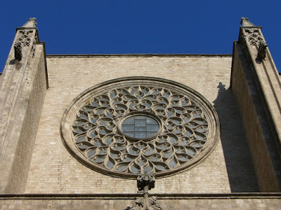 Rose window of Santa Maria del Mar