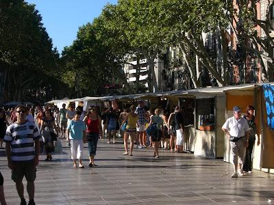 La Rambla near the marina of Barcelona