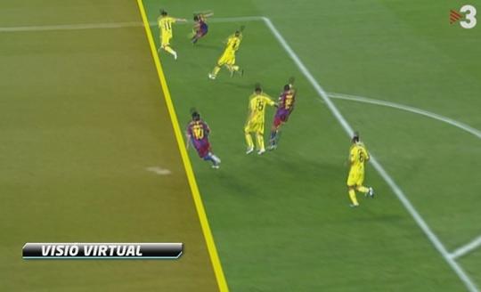 Fuera de juego en el segundo gol de mesi al villarreal for En fuera de juego