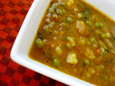 Preety's Kitchen: Aloo Matar ( Potatoes & Peas Curry)