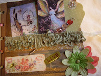 ALTERED FAIRY BOOK PAGE