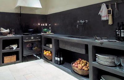Damask cuisine tadelakt kitchen for Tadelakt cuisine