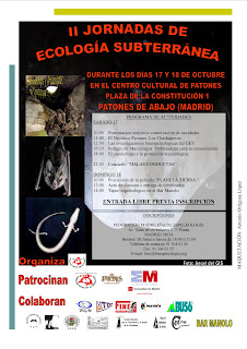 II jornadas de Ecología Subterránea Cartel_II..