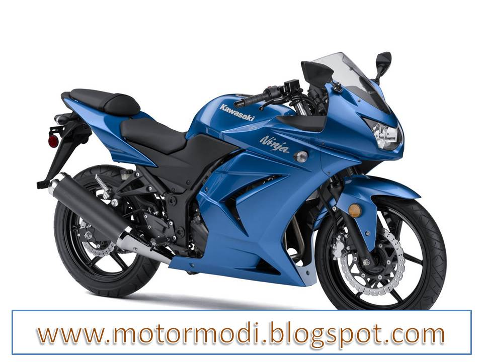 Motorcycle Kawasaki Ninja 250R Blue Series