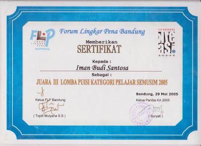 Ibs Meraih Juara Lomba Menulis Puisi Forum Lingkar Pena Bandung