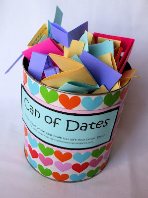 Bridal Shower Gift Ideas For My Best Friend : My Creative Stirrings: Creative Wedding Gift Idea- Can of Dates