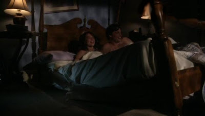Clark and Lana rocking the sheets and breaking the bed with a little bit of super hero sex