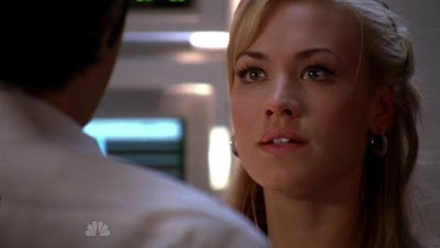 Yvonne Strahovski playing Sarah Walker on Chuck