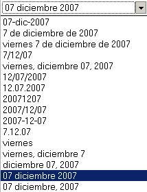 Configurar la forma de ver la fecha