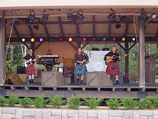 Off Kilter performing at the Canada pavilion at Epcot