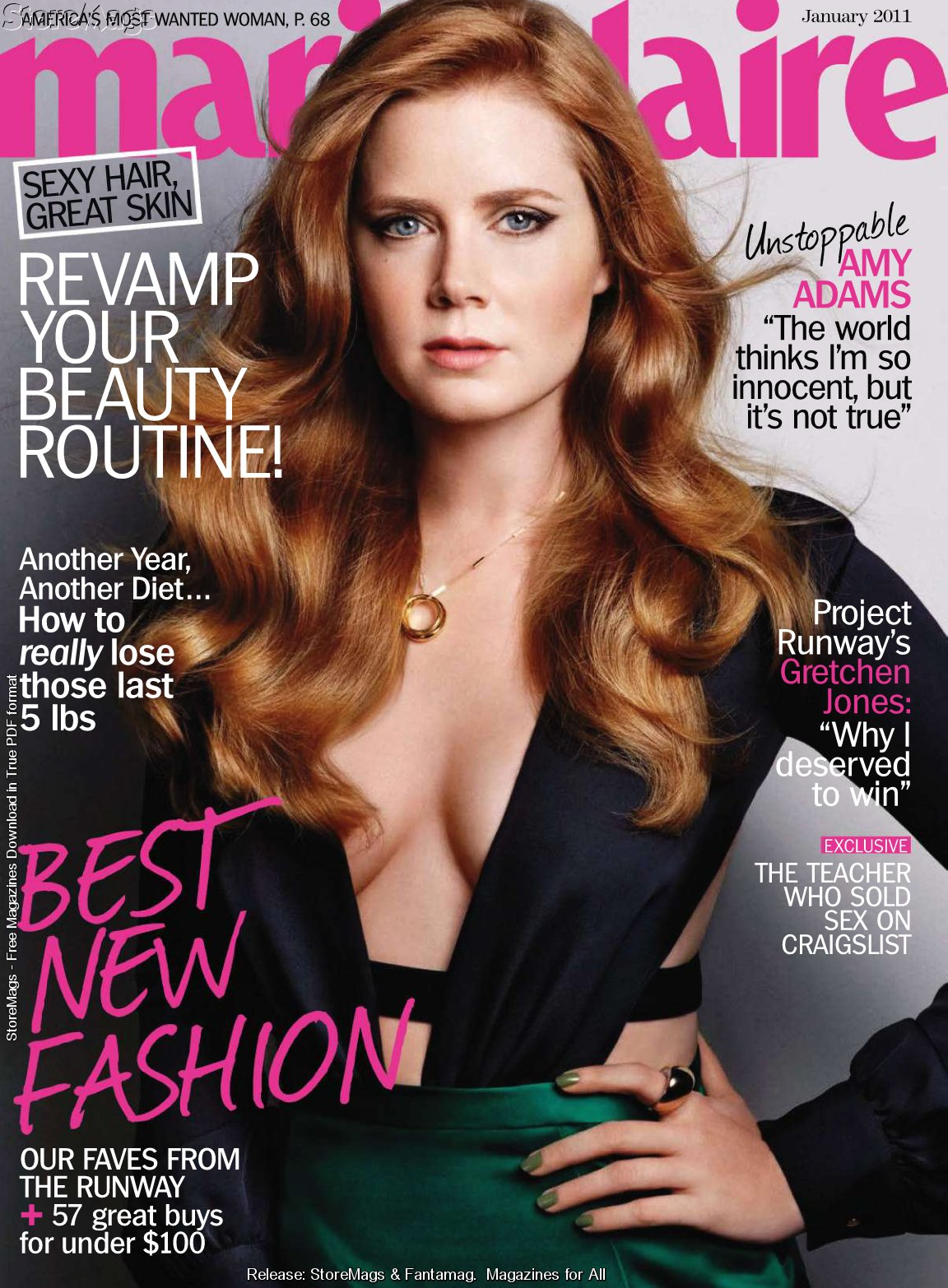 Amy Adams sexy hot on Marie Claire Magazine photos gallery. at 8:21 PM