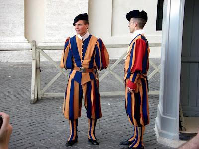Guardias del Vaticano.
