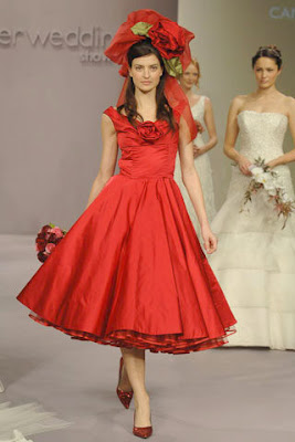 Wedding By Designs Gorgeous Red Short Wedding Dress