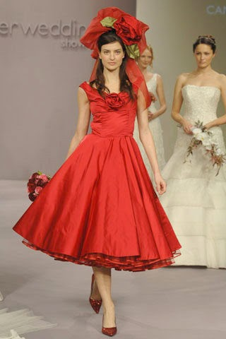 Wedding by designs gorgeous red short wedding dress for Short red wedding dresses