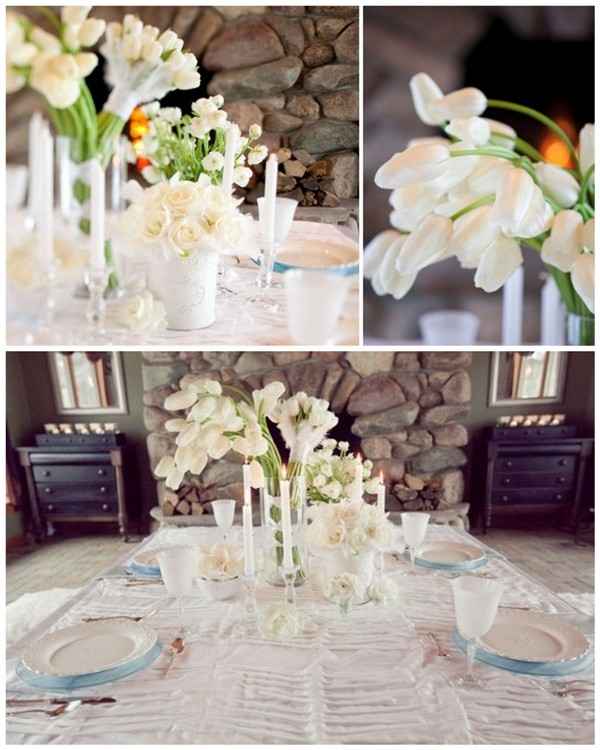 Elegant Winter White Wedding Decorations