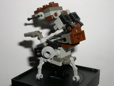 Custom LEGO Star Wars Destroyer Droid (Droideka) - side view