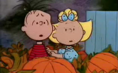 Linus and Sally think they hear the Great Pumpkin