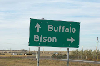 Buffalo Bison sign