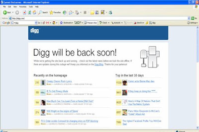 Digg is Down - Digg will be back soon!