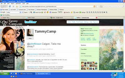 Twitter Profile of Tammy Camp