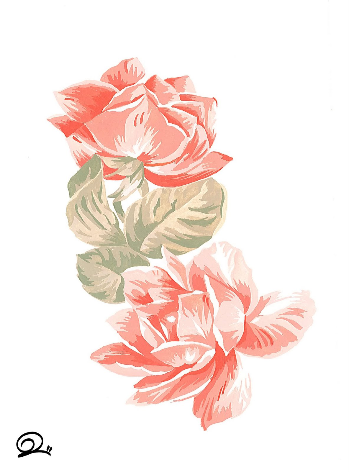 Disegni di fiori colorati a tempera for Disegni di fiori a matita