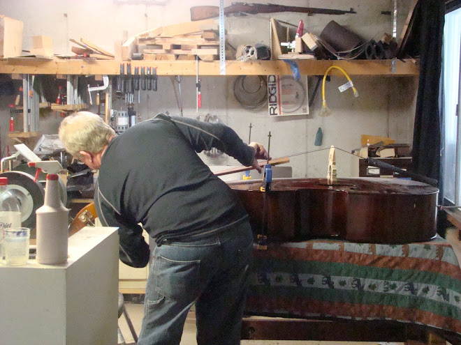 REPAIRS ON DOUBLE BASSES  AND OTHER STRING INSTRUMENTS AND BOWS IS AVAILABLE WITH DANIEL SEABOLT