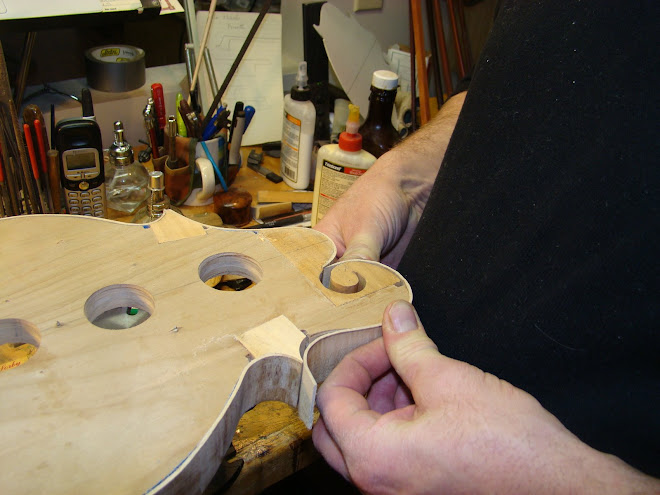 CREATING BEAUTIFUL DETAILS ARE ONE OF DAN'S GIFTS AS A LUTHIER