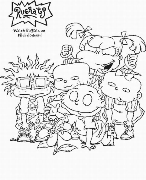 World Of Antman 90s Cartoons 90 S Nickelodeon Coloring Pages