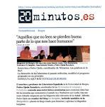 """La Acequia en """"20 minutos"""". Entrevista de Leticia Rojo"""