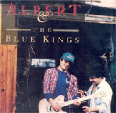 Del Tonos: Albert & The Blue Kings (1989). Detalle de la portada.